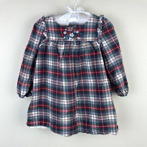 Baby Gap Long-Sleeve Plaid Dress 12-18 Months